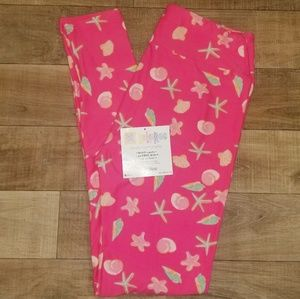 Lularoe OS NWOT Starfish and Seashells